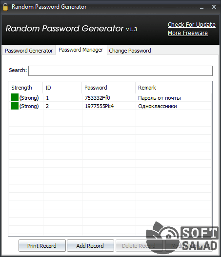 random user id and password generator